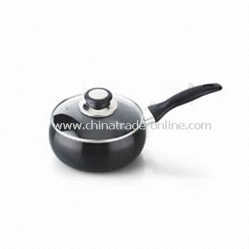 Milk Boiler/Saucepan with Aluminum Lid, Suitable for Gas and Electric, Optional Color
