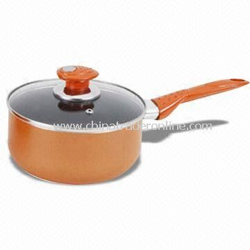 Non-stick Coated Milk Boiler/Saucepan, Made of Aluminum, High Temperature Lacquer