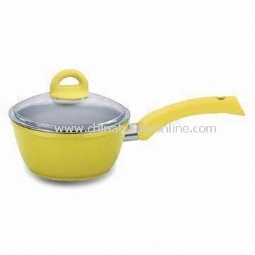 Non-stick Sauce Pan with Glass Lid, Durable, Made of Aluminum