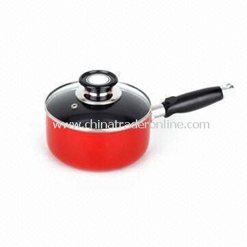 Saucepan with Color Lacquer Painting and Bakelite/Stainless Steel Hollow Handle