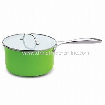 Saucepan with Glass and Stainless Steel Lid, Available in Various Sizes