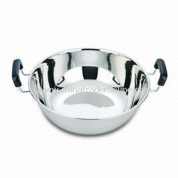 Western Style Deep Frying Pan, Made of 201 Stainless Steel Material