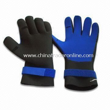 Aqua Fitness Gloves, Made of Lycra and Soft EVA, Available with Adjustable Wrist Strap