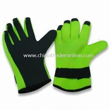 Aqua Fitness Gloves with Adjustable Wrist Strap, Made of Spandex and Soft EVA