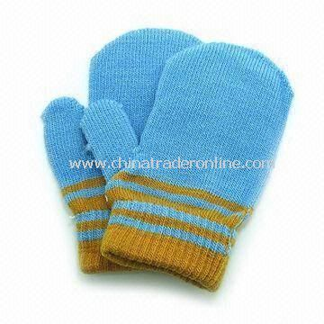 Childrens Gloves, Made of 100% Cotton, Embroidery and Print can be Made as Customers Requests