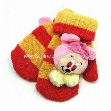 Childrens Gloves, Made of 100% Cotton, OEM/ODM Orders are Accepted