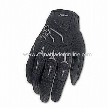 Cycling Gloves with Heat Embossed Perforated Single Layer Palm and Silicone Gripper