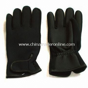 Lycra and Soft EVA Aqua Fitness Gloves, Suitable for Swimming, OEM Orders are Accepted
