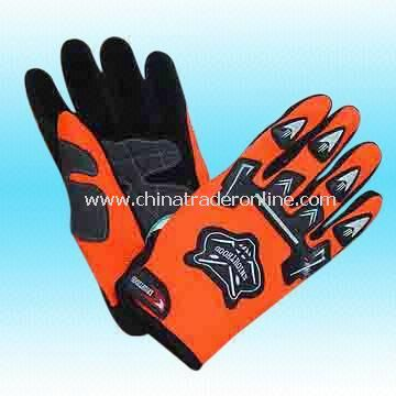 Motocross Gloves with Rubber Logo