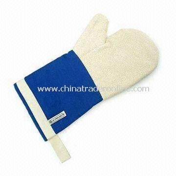Oven Mitt, Made of 100% Cotton, Customized Logos are Welcome