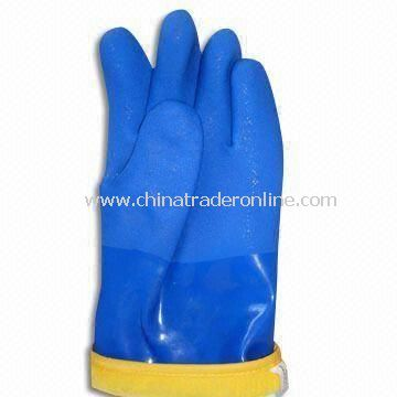 PVC Gloves with Oil- and Acid-resistant