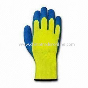 Safety Gloves, Available in S, M and L Sizes, Made of Cotton, with PVC Coating