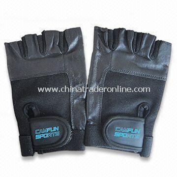 Training Gloves, Adjustable Wrist Closure, Made of Leather