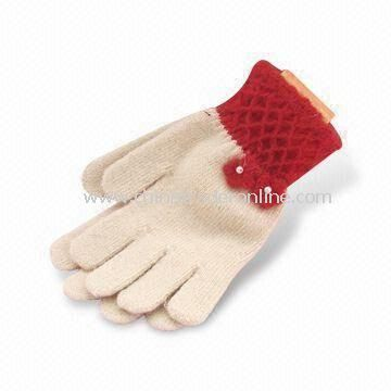 Winter Gloves, Made of 100% Cotton, Customized Designs are Accepted from China