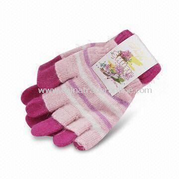 Winter Gloves, Made of 100% Cotton, Customized Designs are Accepted