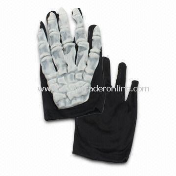 Fashionable and Durable Skeleton Glove Masks, Made of PVC Material and Customized Sizes Welcomed from China
