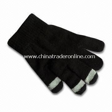 Glove for Apples iPod, iPhone and iPad, Fashionable, Available in Black Color