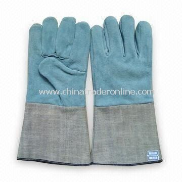 Gloves, Made of Leather, Used for Welding, Cutting and Flitting Purposes, 35cm Length