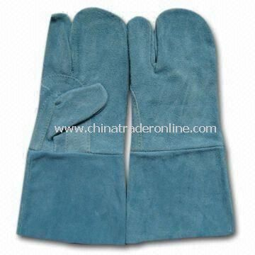 Gloves for Welders, with 35cm Length, Made of Leather