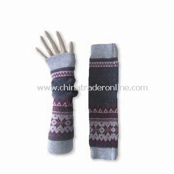 Knitted Arm Warmer, Customized Colors and Designs are Accepted, Comfortable, Fashionable Design from China
