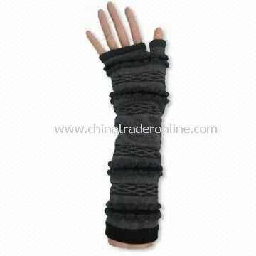Knitted Arm Warmer, Customized Colors and Designs are Accepted, Comfortable, Fashionable Design