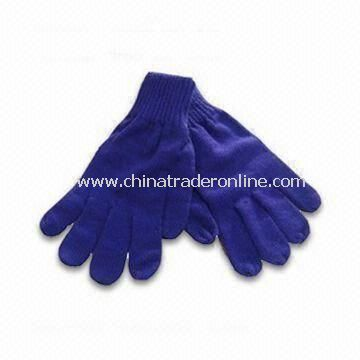 Knitted Gloves in Fashionable Design, Made of 100% Acrylic, Measures 10 x 24cm, Weighs 65g