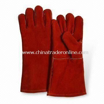 Welding Gloves, Made of Cow Split Leather, with Full Lining, Available in 14 Inches
