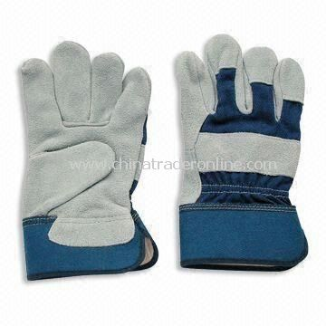Welding Gloves, Made of Cowhide Leather, Used in Chemical Plant and Lab, Available in Various Colors