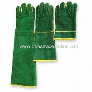 Welding Gloves, Stitched with Kevlar, Made of Leather Top Layer