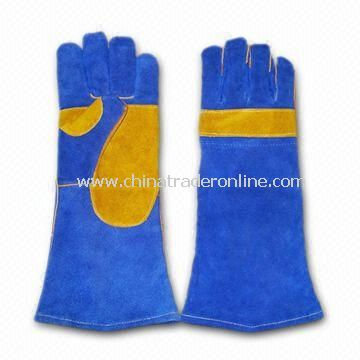 Welding Gloves with Double Palm and 1-piece Leather Back