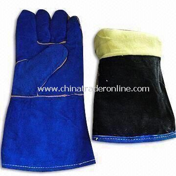 Welding Gloves with Pasty and Rubberized Cuff