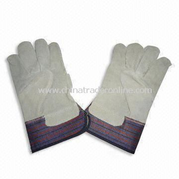 Working Gloves, Made of Cowhide Leather, Available in Various Colors