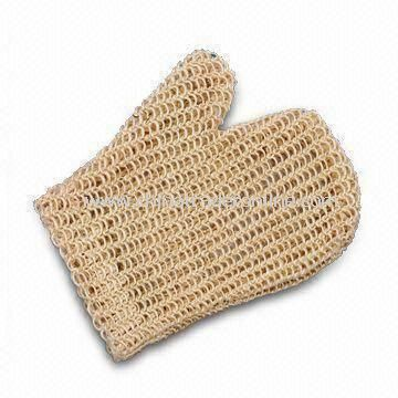 22 x 18cm Bath Sisal Glove, OEM Design is Accepted