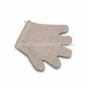 Bath Glove, Made of Ramie/Terry/Foam Materials, Measures 24 x 20cm