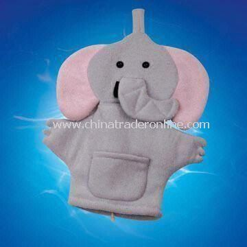 Bath Glove, Made of Terry, Measures 19.5 x 15.5cm, OEM Design is Acceptable