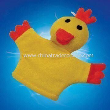 Bath Glove in Duck Design, Made of Terry, Measures 19.5 x 15.5cm