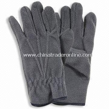 Fleece Gloves without Embroidery, Made of Polyester, Suitable for Winter