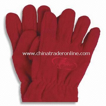 Gloves, Made of Fleece, Available in Various Sizes and Designs