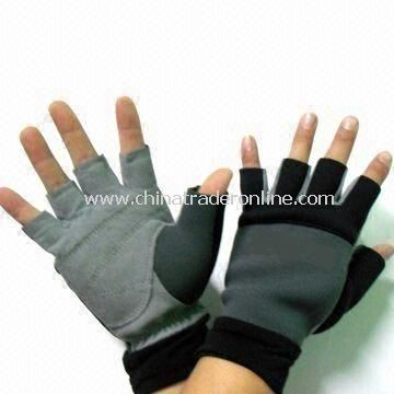 Half Finger Gloves, Made of Neoprene, Comes in Various Sizes