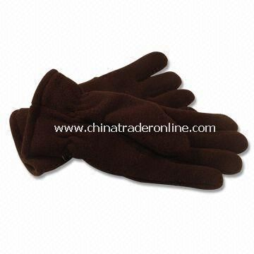 Mens Polar Micro Fleece Knitted Gloves with Lining