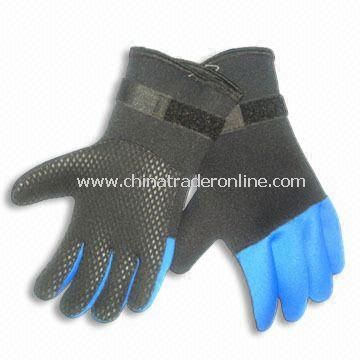 Neoprene Gloves with Velcro Closure Elastic Wrist and Glued/Blind-stitched Seams