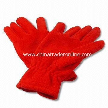 Polar Micro Fleece Knitted Gloves, Available in Red