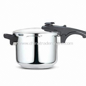 6L Pressure Cooker in Straight and Belly Shapes and Scientific Design, Easy to Use