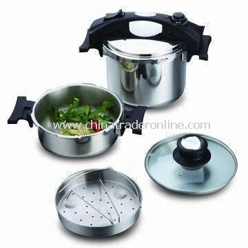 7 Pieces Pressure Cooker Set, Made of Stainless Steel