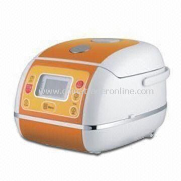 Computer Rice Cooker with 2.0mm Thickness, Anti-spillover Steaming Valve from China