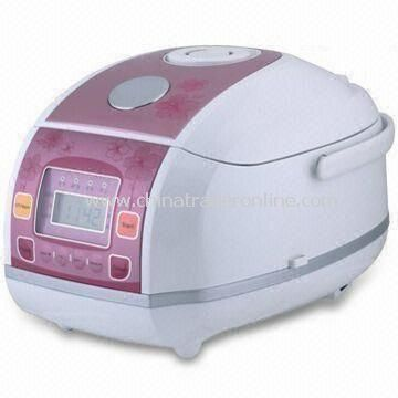 Computer Rice Cooker with 3.0L Capacity and Anti-spillover Steaming Valve, Made of Aluminum Alloy