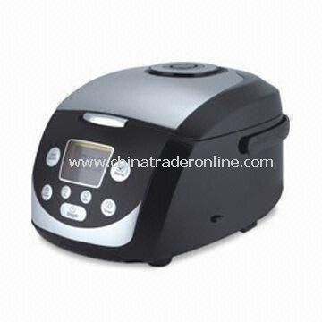 Computer Rice Cooker with LCD Screen, 2.0mm Thickness, Anti-spillover Steaming Valve