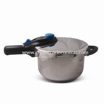 Durable Pressure Cooker with 5L Capacity and 22cm Diameter, Made of SUS304 or 18/8 Stainless Steel