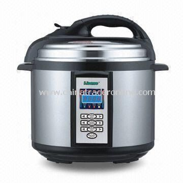 Electric Pressure Cooker with Capacity of 4, 5 or 6L, Can be Used for Steaming and Slow Cooking