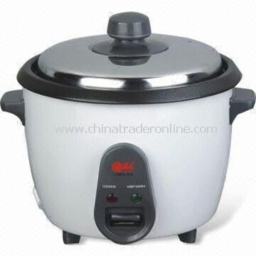 Electric Rice Cooker with Measuring Cup and Spoon, Made of Iron